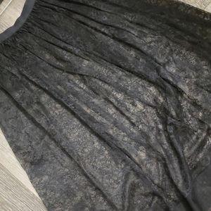 Victoria's Secret Skirts - Delicate Sheer Black Lace Skirt